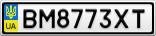 Номерной знак - BM8773XT