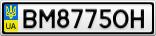 Номерной знак - BM8775OH