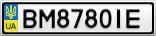 Номерной знак - BM8780IE