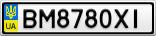 Номерной знак - BM8780XI