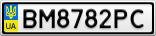 Номерной знак - BM8782PC
