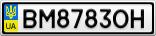 Номерной знак - BM8783OH