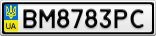 Номерной знак - BM8783PC