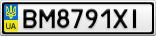 Номерной знак - BM8791XI