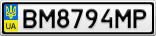 Номерной знак - BM8794MP