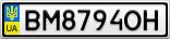 Номерной знак - BM8794OH