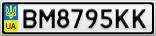Номерной знак - BM8795KK
