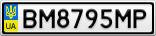 Номерной знак - BM8795MP
