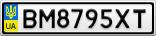 Номерной знак - BM8795XT