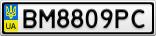 Номерной знак - BM8809PC