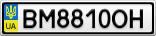 Номерной знак - BM8810OH