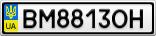 Номерной знак - BM8813OH