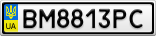 Номерной знак - BM8813PC