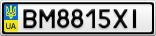 Номерной знак - BM8815XI