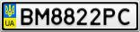 Номерной знак - BM8822PC