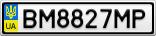 Номерной знак - BM8827MP
