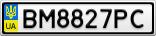 Номерной знак - BM8827PC