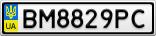 Номерной знак - BM8829PC