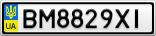 Номерной знак - BM8829XI