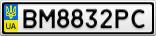 Номерной знак - BM8832PC
