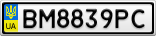 Номерной знак - BM8839PC