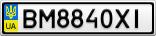 Номерной знак - BM8840XI