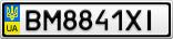 Номерной знак - BM8841XI