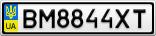 Номерной знак - BM8844XT
