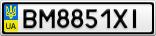 Номерной знак - BM8851XI