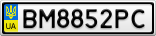 Номерной знак - BM8852PC