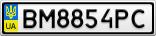 Номерной знак - BM8854PC