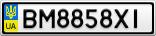 Номерной знак - BM8858XI