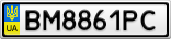 Номерной знак - BM8861PC