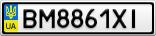 Номерной знак - BM8861XI