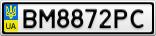 Номерной знак - BM8872PC