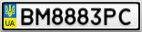 Номерной знак - BM8883PC