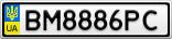Номерной знак - BM8886PC