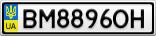 Номерной знак - BM8896OH