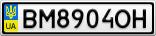 Номерной знак - BM8904OH