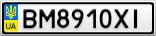 Номерной знак - BM8910XI