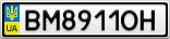 Номерной знак - BM8911OH