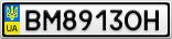 Номерной знак - BM8913OH