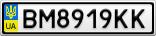Номерной знак - BM8919KK