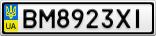 Номерной знак - BM8923XI