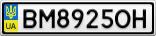 Номерной знак - BM8925OH