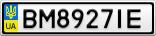 Номерной знак - BM8927IE