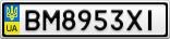 Номерной знак - BM8953XI