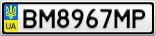 Номерной знак - BM8967MP