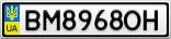 Номерной знак - BM8968OH