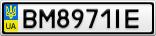 Номерной знак - BM8971IE